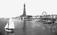 Blackpool, From Central Pier 1896