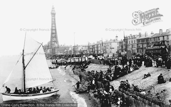 Photo of Blackpool, From Central Pier 1896