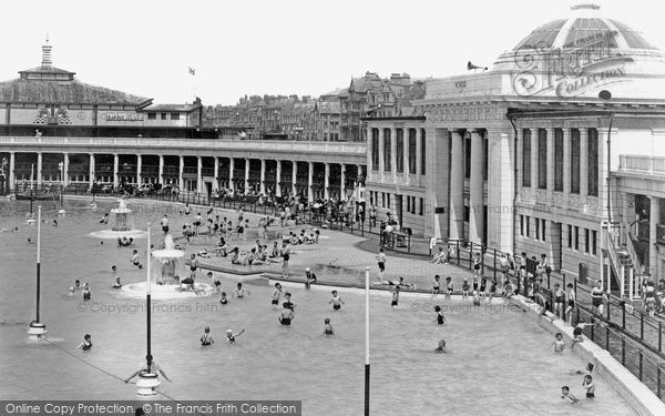 Blackpool, Outdoor Swimming Pool c1955