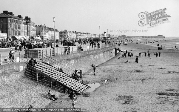 Photo of Blackpool, Promenade and Sands c1958