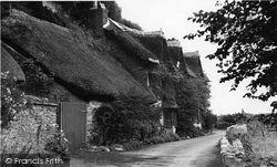 Blackpool, Thatched Cottages c.1955