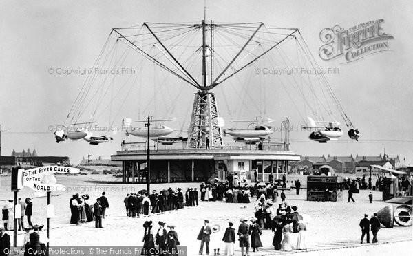 Photo of Blackpool, The Sir Hiram Maxim Flying Machine 1906