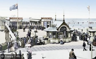 Blackpool, the South Jetty from the Wellington Hotel 1890