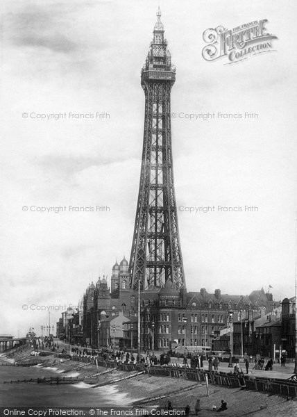 Blackpool, The Tower From Central Pier 1894