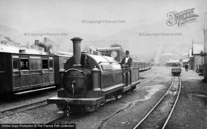 Photo of Blaenau Ffestiniog, The 'welsh Pony', Ffestiniog Railway Engine, Duffws Station c.1885