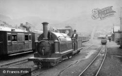 Blaenau Ffestiniog, The 'welsh Pony', Ffestiniog Railway Engine, Duffws Station c.1885
