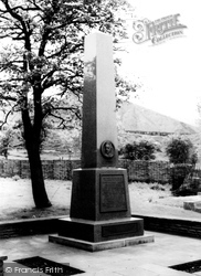 Blaenavon, The Memorial To Gilchrist Thomas c.1960
