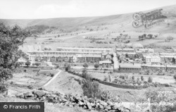 Blaina, General View Showing New School And Pilgrims Garden c.1950