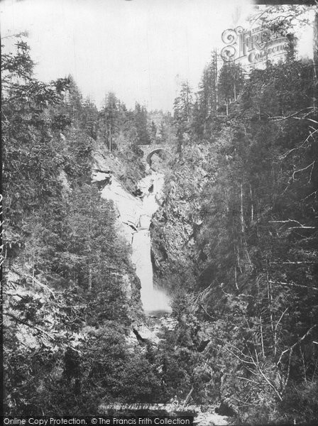 Blair Atholl, Upper Falls Of Bruar c.1890
