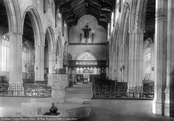 Blakeney, The Church Interior 1925