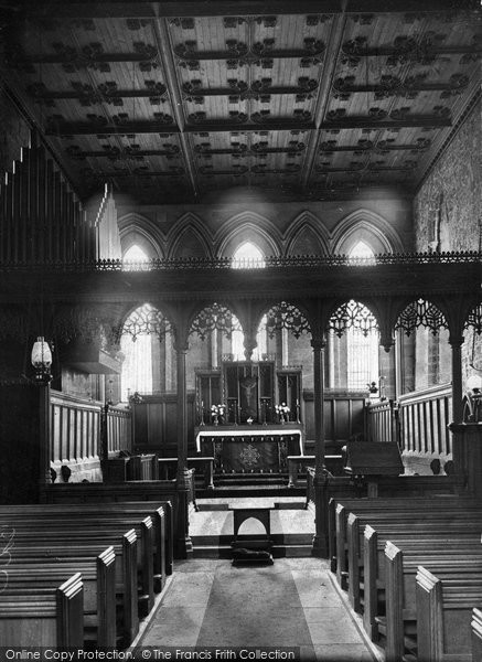 Blanchland, St Mary's Abbey Interior c.1935