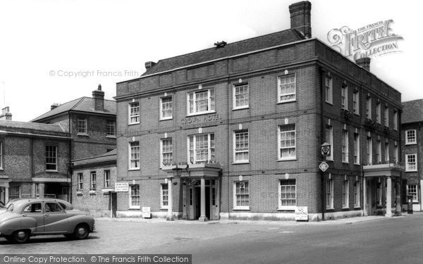 Blandford Forum, The Crown Hotel c.1955