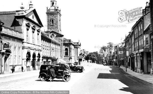 Blandford Forum, The Market Place 1950