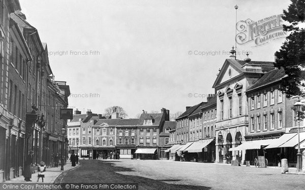 Blandford Forum, The Market Place c.1900