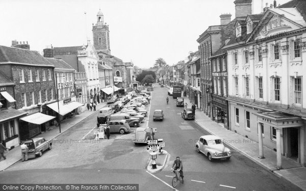 Photo of Blandford Forum, the Market Place  c1960