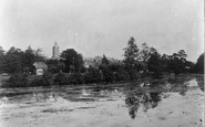 Blandford Forum, The River Stour And Church c.1900