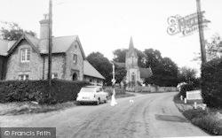 School And Holy Trinity Church c.1955, Blendworth