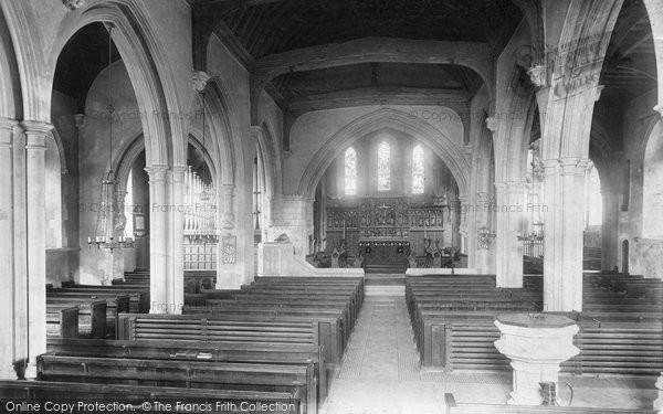 Bletchingley, Church Interior 1906