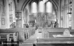 Bletchingley, St Mary The Virgin Church, Interior c.1955