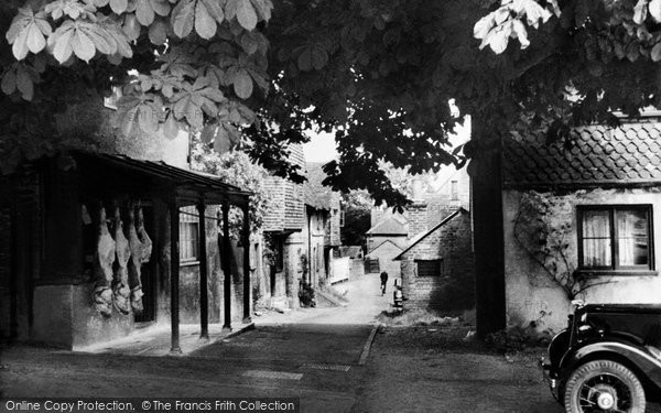 Photo of Bletchingley, the Village Butchers Shop c1935