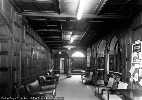 Photo of Bletchley, Bletchley Park, The Entrance Hall c.1955