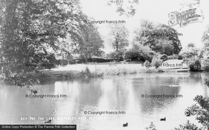 Photo of Bletchley, Bletchley Park, The Lake c.1960