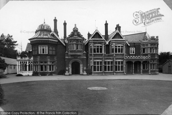 Photo of Bletchley, Bletchley Park, The Mansion c.1955