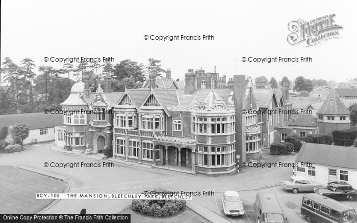 Photo of Bletchley, Bletchley Park, The Mansion c.1960