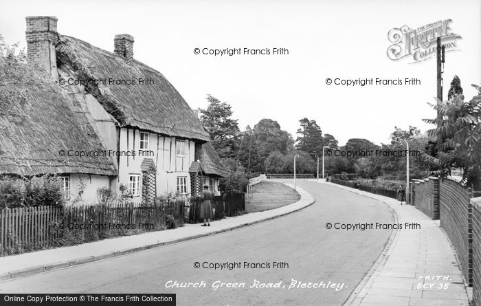 Photo of Bletchley, Church Lane c.1955