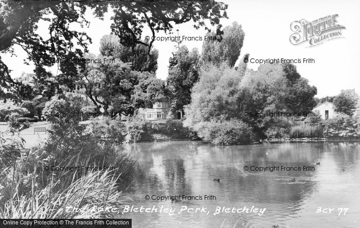 Photo of Bletchley, Park, The Lake c.1960