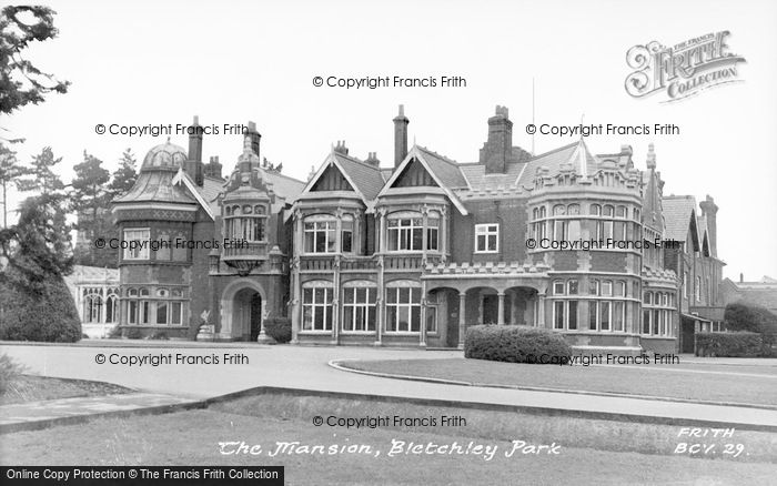 Photo of Bletchley, Park, The Mansion c.1955