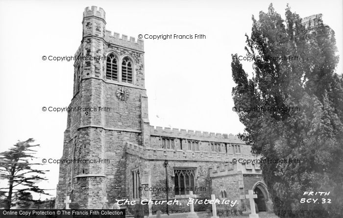Photo of Bletchley, St Mary's Church c.1955