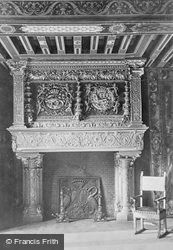 Chateau De Fireplace In King's Hall c.1930, Blois