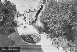 Denis Papin Statue And Steps c.1930, Blois