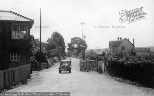 Blue Anchor, Railway Crossing c.1939