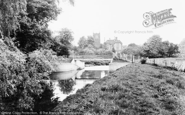Blunham, Footbridge and River Ivel c1965