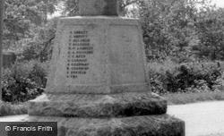 Inscriptions On The Memorial  c.1960, Bluntisham