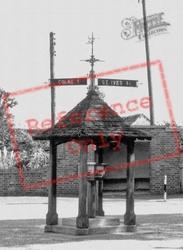 Sign Post And Weather Station c.1955, Bluntisham