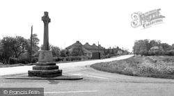 The Memorial And Main Road c.1960, Bluntisham
