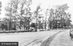 Blurton, Ripon Road Flats c.1960