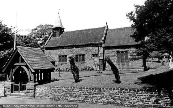 Photo of Blurton, St Bartholomew Church c1955