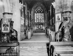 Bodelwyddan, The Chancel, St Margaret's Church c.1955