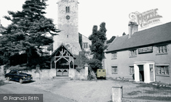 Bodfari, Dinorben Arms And St Stephen's Church c.1960
