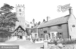Bodfari, Dinorben Arms And St Stephen's Church c.1965