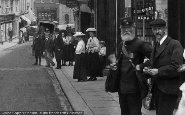 Bodmin, People In Fore Street 1906