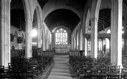 Bodmin, St Petroc's Church Interior 1938