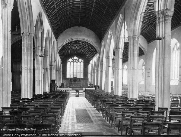 Bodmin, The Church, Nave East 1890