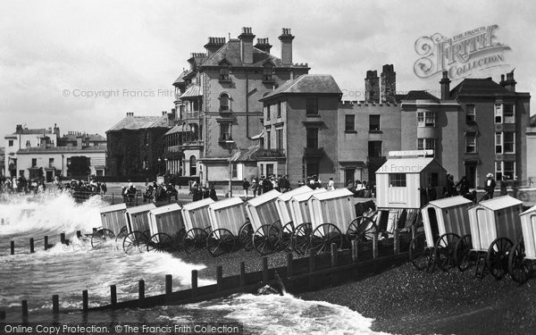 Bognor Regis, Bathing Machines From The Pier 1903