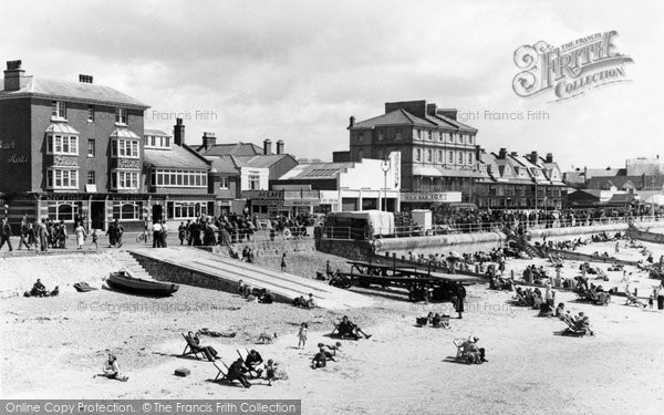 Bognor Regis, Beach And Promenade c.1955