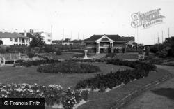 Bognor Regis, Flower Beds, Marine Gardens c.1950
